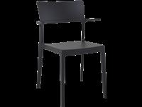 PLUS - Chaise en résine - BLACK