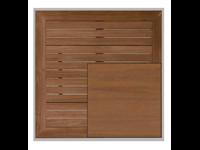 NO WOOD - Dessus de table - Bordure en aluminium - TECK - 70x70cm