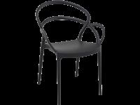 MILA - Chaise en résine - BLACK