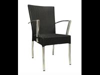ROYAL - Chaise en aluminium avec bras