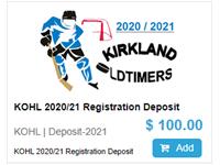 KOHL 2020/21 Registration Deposit