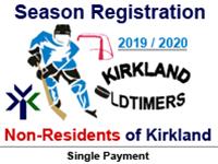 KOHL Season Registration (NON-Kirkland Resident)