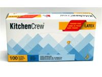 Powder Free Disposable Latex Glove (4 Mil, Large, Box of 100)