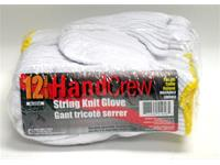 Polyester String Knit Gloves (Universal, 12 Pairs)
