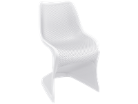 BLOOM - Chaise en résine - WHITE