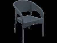 PANAMA - Chaise en résine - CHARCOAL
