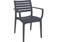 ARTEMIS - Chaise en résine - DARK GREY