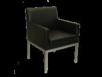 SARA - Fauteuil salle de réception - Armature en métal - vinyle NOIR
