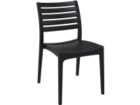 ARES - Resin Chair - BLACK