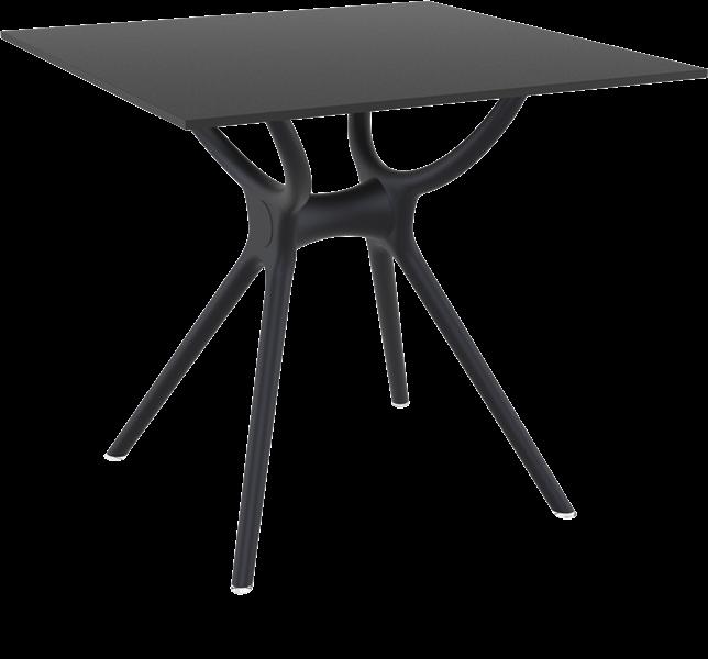 "<meta charset=""UTF-8"">AIR - Table en résine- 80x80cm - NOIR"