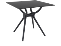 AIR - Table en résine - 80x80cm - BLACK