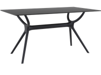 AIR - Table en résine - 80x140cm - BLACK