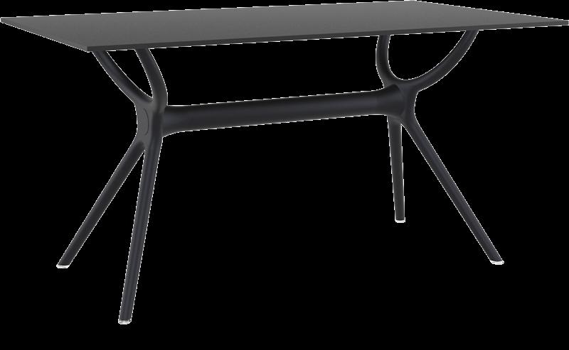"<meta charset=""UTF-8"">AIR - Table en résine- 80x140cm - NOIR"