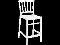 OPERA - Tabouret en résine - Hauteur 65 cm - CLEAR TRANSPARENT