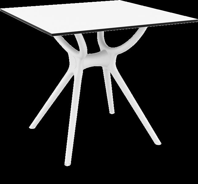 "<meta charset=""UTF-8"">AIR - Table en résine- 80x80cm - BLANC"