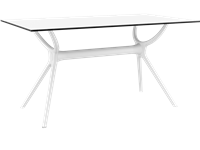 AIR - Table en résine - 80x140cm - WHITE