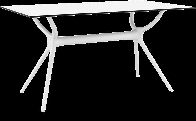 "<meta charset=""UTF-8"">AIR - Table en résine- 80x140cm - BLANC"