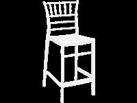 CHIAVARI - Tabouret en résine - Hauteur 65 cm - GLOSSY WHITE