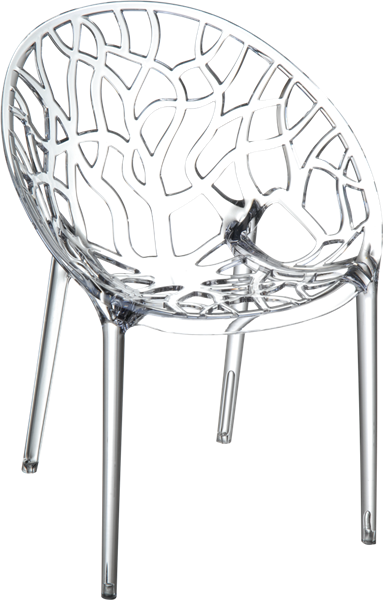 """<meta charset=""""UTF-8"""">CRYSTAL - Chaise en polycarbonate - CLEAR TRANSPARENT"""