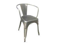 SOHO - Metal Chair - GALVANIZED