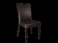 CHLOE - Chaise en métal - vinyl BRUN
