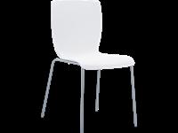 MIO - Chaise en métal et résine - Empilable - WHITE