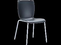 MIO - Chaise en métal et résine - Empilable - BLACK