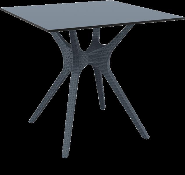 "<meta charset=""UTF-8"">IBIZA - Table - 80X80cm - ANTHRACITE"