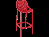 AIR - Tabouret en résine - Hauteur 75 cm - RED