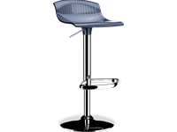 ARIA - Tabouret Polycarbonate et chrome - BLACK TRANSPARENT