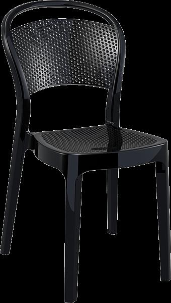 "<meta charset=""UTF-8"">BEE - Chaise en polycarbonate - NOIR BRILLANT"