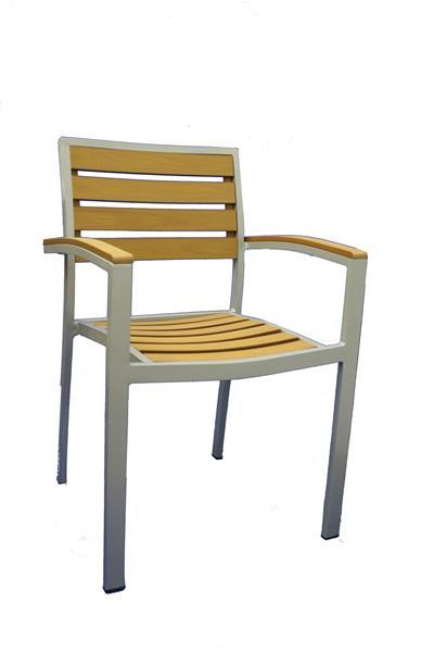 "<meta charset=""UTF-8"">DENMARK - Chaise en aluminium - Empilable - TECK"
