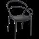 MILA - Resin Resin Chair - BLACK