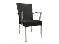 ROYAL - Aluminum chair with arms