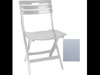 BERNADETTE - Chaise pliante en résine -  GRIS PALE