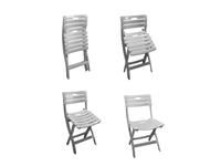 BERNADETTE - Resin FOLDING Chair - LIGHT GREY