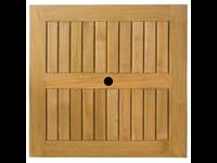 TEAK - Dessus de table - Teck solide - Trou de parasol - TECK NATUREL - 60x60cm
