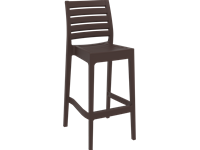 ARES - Resin Barstool - Height 75 cm -  CHOCOLATE