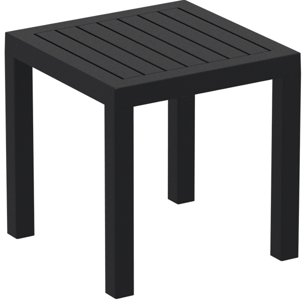 "<meta charset=""UTF-8"">OCEAN - Table en résine- 45x45cm - NOIR"
