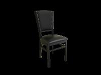 CAROL  - Chaise en métal - siège en vinyl