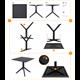 SKY - Resin Table - DARK GREY