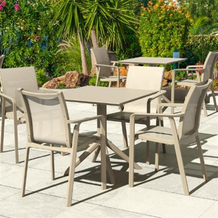 "<meta charset=""UTF-8"">SKY - Table en résine- TAUPE"