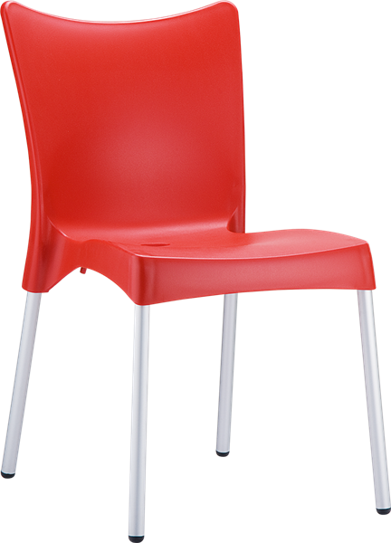 "<meta charset=""UTF-8"">JULIETTE - Chaise en résine- ROUGE"