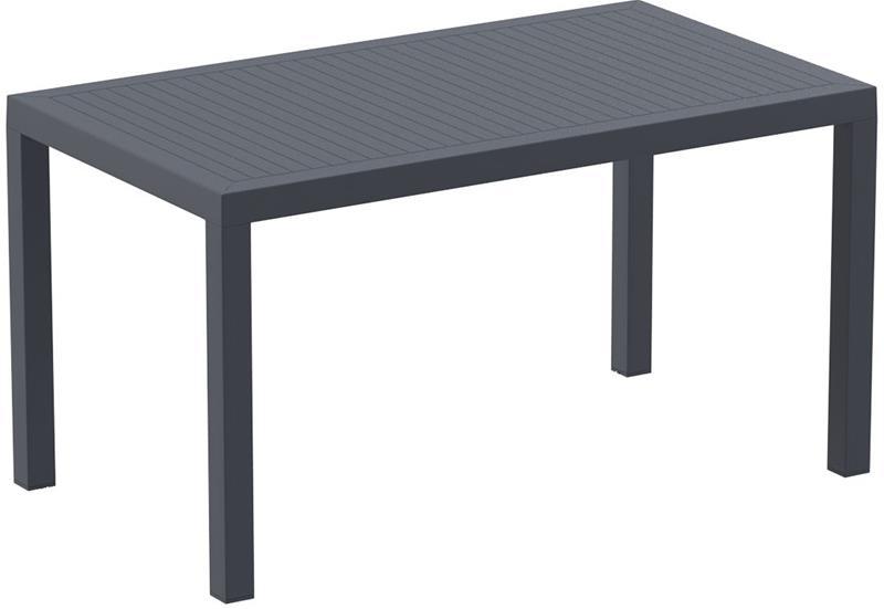 """<meta charset=""""UTF-8"""">ARES - Table en résine- 80x140cm - GRIS foncé"""