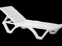 AQUA - Chaise longue en résine - BLANCHE