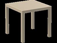 ARES - Table en résine - 80x80cm - TAUPE