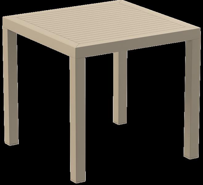 "<meta charset=""UTF-8"">ARES - Table en résine- 80x80cm - TAUPE"
