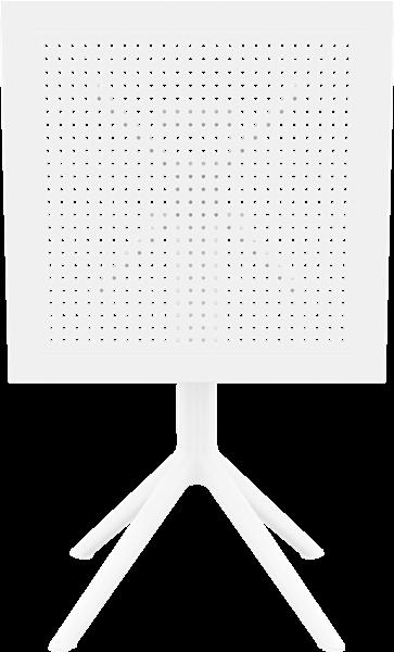 "<meta charset=""UTF-8"">SKY - Table en résine 24x24 - FLIP TOP - BLANC"