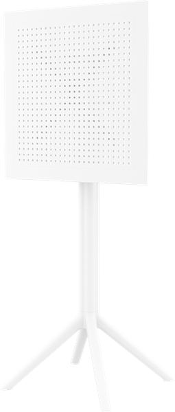 "<meta charset=""UTF-8"">SKY - Table en résine 24x24 - FLIP TOP - Hauteur BAR - BLANC"