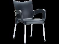 ROMEO - Chaise en résine - BLACK